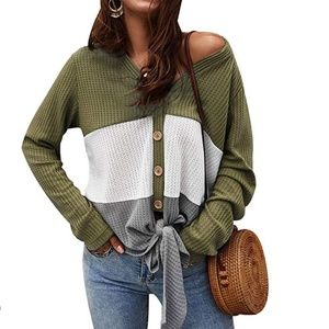 ❤OLIVE Tie Front Knit Cardigan ❤